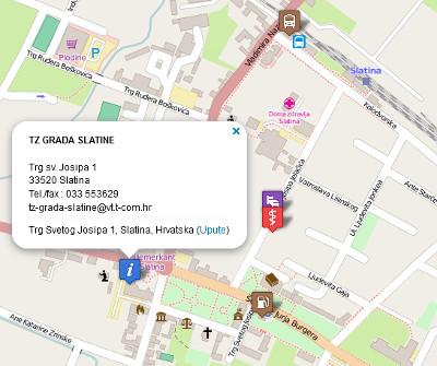 Turistički objekti na karti!
